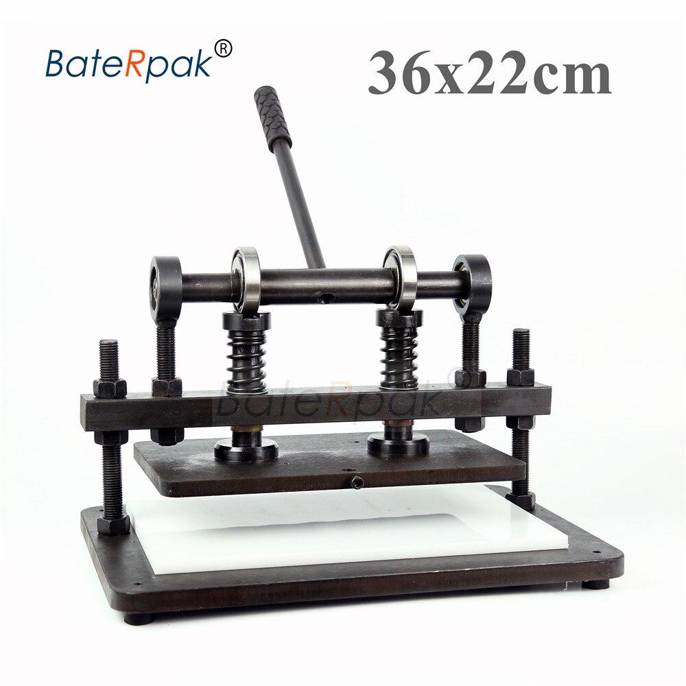 36x22cm Double roue plus main découpeuse en cuir, papier photo BateRpak, coupeur de feuille de PVC, découpeuse en cuir