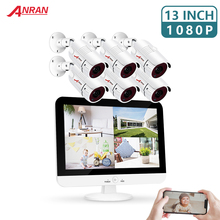 ANRAN 6CH 2MP AHD NVR Kit Security Motion Detection CCTV System 1080P AHD Camera Outdoor P2P Video Surveillance Set Waterproof