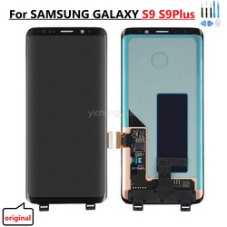 Оригинальный AMOLED для SAMSUNG Galaxy S9 S9 Plus ЖК-дисплей сенсорный экран дигитайзер G960 G965 S9 ЖК-дисплей с рамкой с черными точками