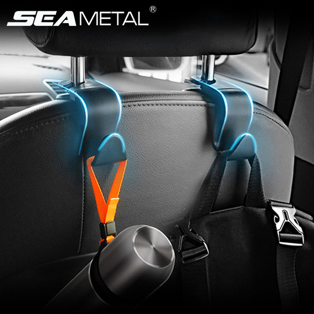 4pcs Car Seat Hook Headrest Hanger Universal Seat Back Stretchable Hook for Bags Handbags Clothes Multifunctional Clips Bracket 1