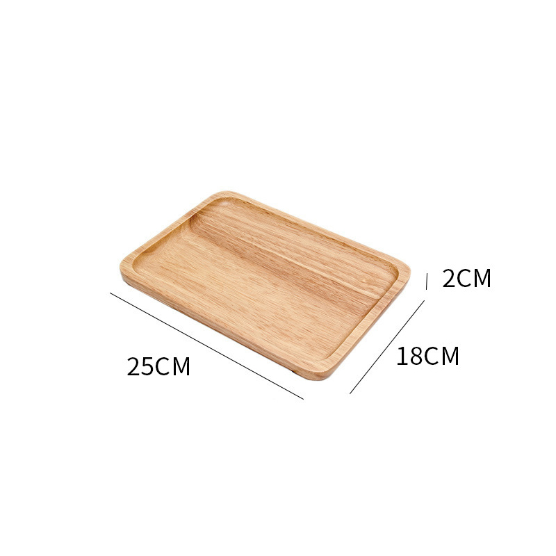 Wooden Round Storage Tray Plate Tea Food Dishe Drink Platter Food Plate Dinner Beef Steak Fruit Snack Tray Home Kitchen Decor - Цвет: 10