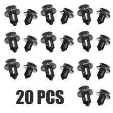 Pince de retenue automatique en plastique noir, pour Honda Civic Accord 20 pièces/ensemble, Clips de garniture de pare-choc 8mm et 10mm Mayitr