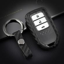 Car Key Cover Case For Honda Forza 300 Civic Jazz Crv Hrv Accord Fit Odyssey Dio Pilot Freed 2015-2019 2020 Key ring Accessories