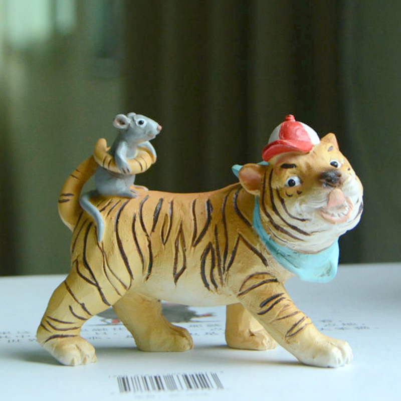 Everyday Collection Fairy Garden Miniature Animals Mouse Figurine Tiger Micro Landscape Home Home Furnishing Desk Decor