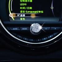 Samochód głośność dźwięku pokrętło regulacji dekoracji kontrola centralna ekran przycisk dźwiękowy naklejka na bmw MINI Cooper F54 F55 F56 F57 F60 w Naklejki samochodowe od Samochody i motocykle na