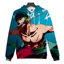 Roronoa Зоро 3D толстовки для мужчин и женщин Осень/Зима теплые толстовки повседневные Harajuku модные пуловеры цельный принт 3D худи для мальчиков