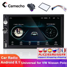 Camecho Android 8.1 Car Multimedia Player GPS Navigasi Mobil Radio 2 Din Wifi USB FM FM MirrorLink 7''HD Audio Mobil stereo Radio(China)