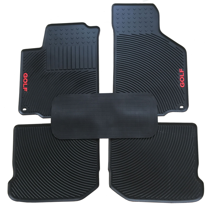 Special Car Latex Wear Thickened Environmental Protection Floor Mats for GOLF 4 Rubber Carpets Waterproof No Odor image