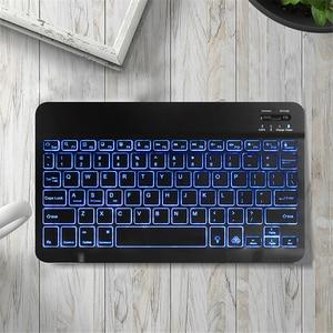 Image 5 - 超スリムロシアスペイン bluetooth ios android タブレット windows ipad 7.9 9.7 空気 10.5 プロ 11 bluetooth キーボード