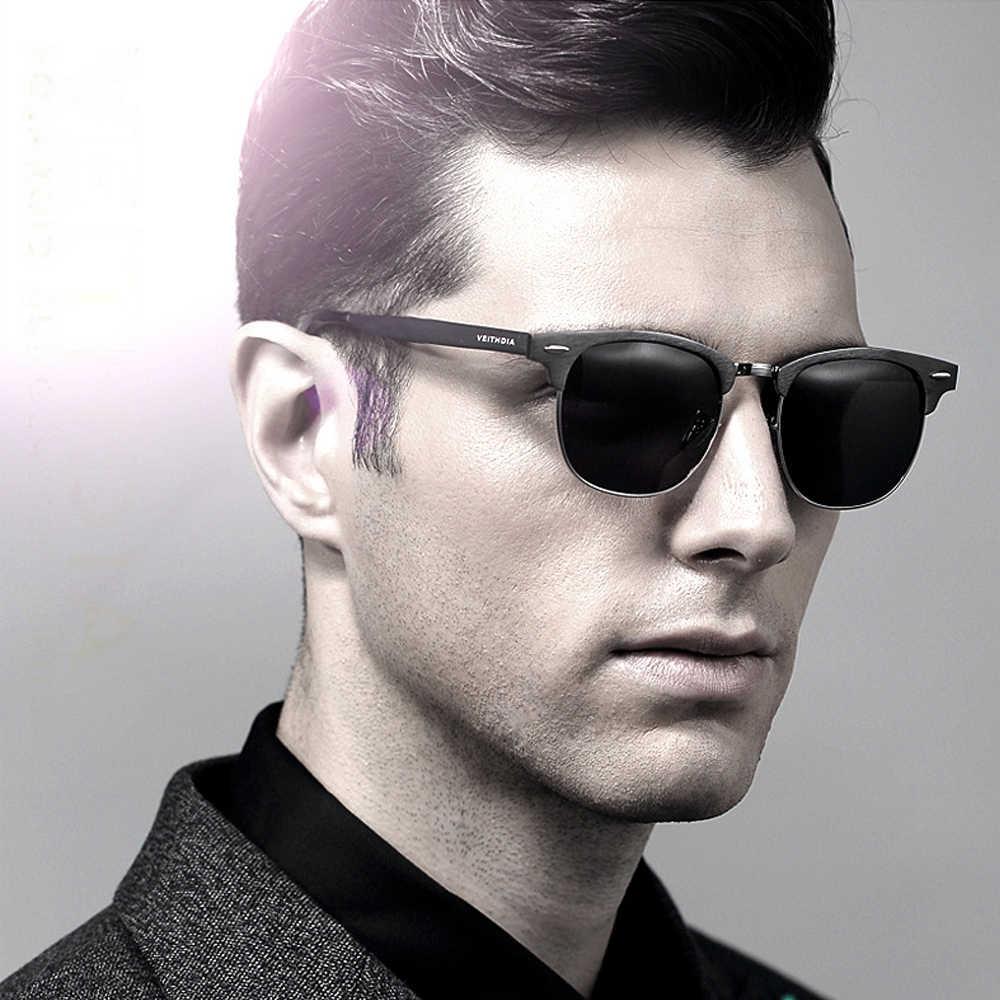 VEITHDIA Retro Unisexอลูมิเนียมแมกนีเซียมบุรุษแว่นตาPolarized Vintageแว่นตากันแดดสำหรับผู้ชายผู้หญิง 6690