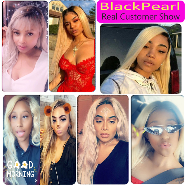 Black Pearl 613 Blonde Bundles With Closure Malaysian Body Wave Remy Human Hair Weave Honey Blonde 613 Bundles With Closure 6