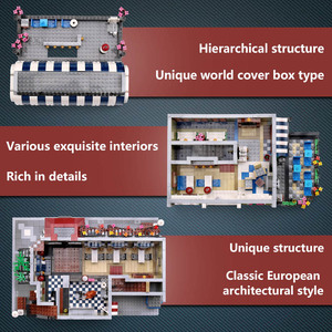 Image 5 - Yeshin moc市ストリートおもちゃ互換レストランクリエイティブおもちゃビルディングブロックの子供クリスマスギフト
