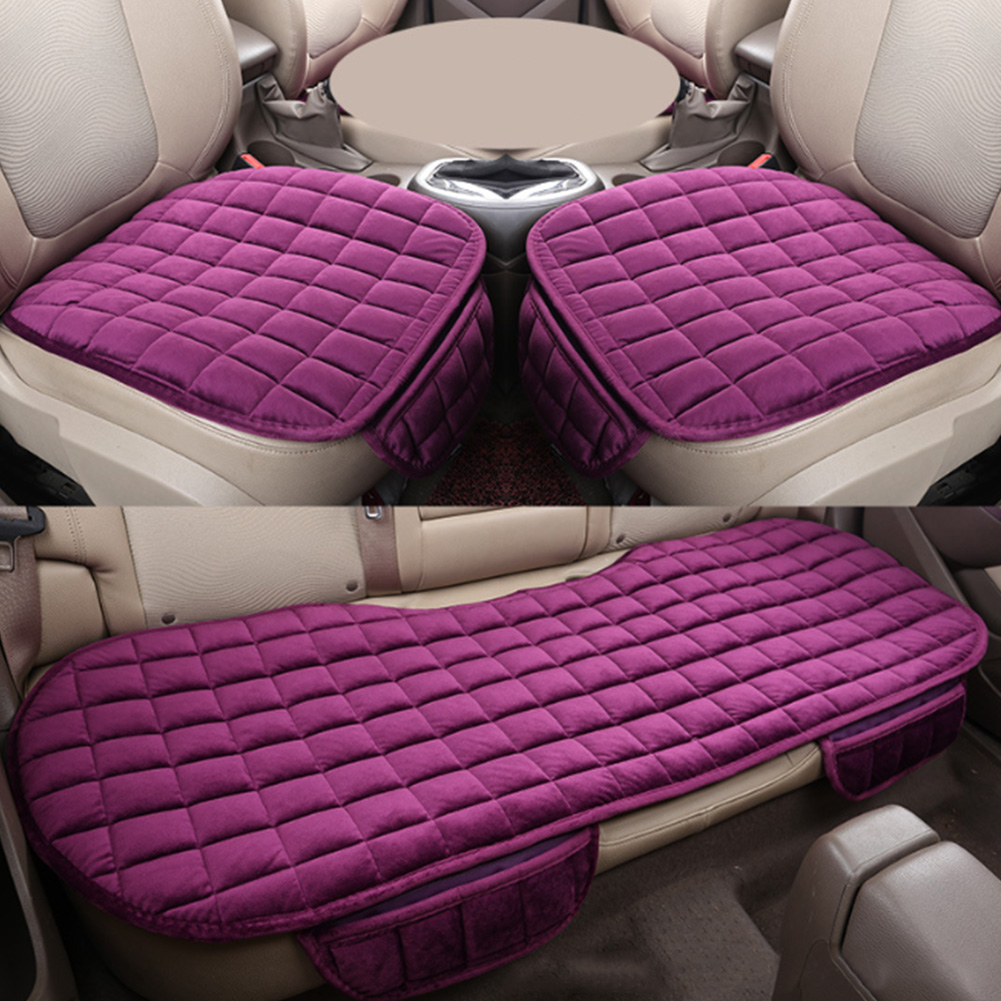 Car Front Rear Universal Seat Cover Winter Warm Black Seat Cushion Anti Slip Rear Back Chair Seat Pad For Vehicle Auto Protector-in Automobiles Seat Covers from Automobiles & Motorcycles
