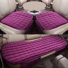 Cubierta de asiento Universal de la parte delantera del coche cubierta de asiento negro cálido de invierno cojín de asiento trasero antideslizante para vehículo Auto Protector