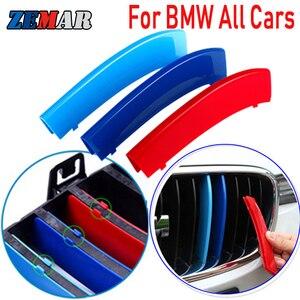 3PCS ABS For BMW X1 X3 X4 X5 X6 1 2 3 4 5 6 7 Series G30 G20 G05 F15 F16 G01 G02 F25 F30 F10 F20 E46 E90 E60 Grille Trim Strips