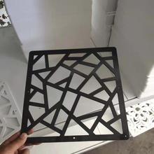 1pcs Room Divider Folding Screen Partition Room Separator Screens Wall Wooden-plastic Decorative Panel Black 29X29cm