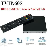 Original TVIP605 Smart TV Box 8G S905X Support IPTV Box Tvip 605 Double System Linux or Android OS Set Top Box Android 6.0 Box