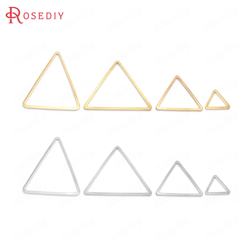 50PCS 9/15/17/20/24/29/20x25MM Brass Triangle Shape Closed Rings Connect Rings Diy Jewelry Findings Accessories Wholesale