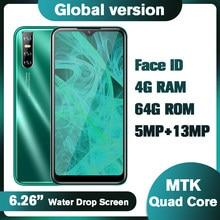 Téléphone portable Y7 débloqué, écran waterdrop de 6.26 pouces, smartphone, 4 go de RAM, 64 go de ROM, Quad Core, Android