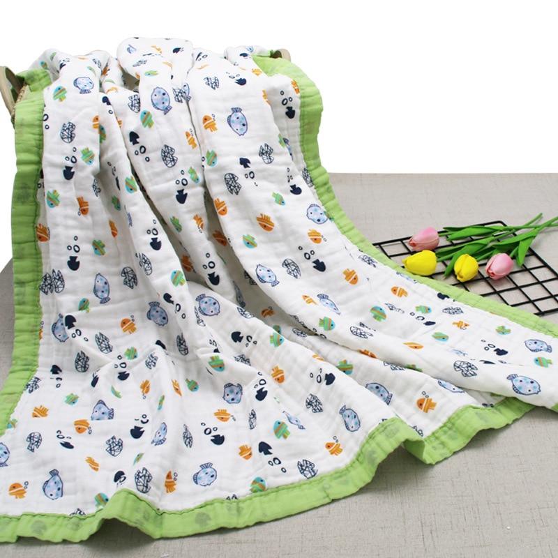 Six-layer Combing Pure Cotton Gauze Blanket Infants Children Thick Comforter Newborns BABY'S BLANKET