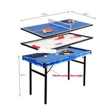 TB-4808 Mini Multifunctional Children's Desktop wood Billiards Pool Table Sets Billiards Table Tennis Ice Hockey Shuffle Board