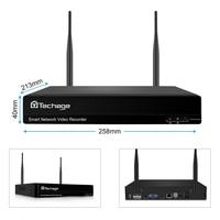 Techage 8CH H.265 3MP Wireless NVR Recorder Wifi CCTV Kamera System P2P IP Kamera Netzwerk 3MP Video Recorder NVR für eseecloud