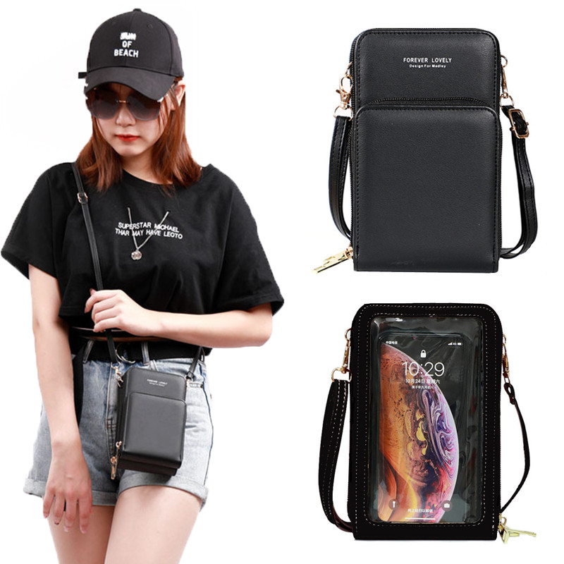 Touch Screen Phone Wallet Luxury Shoulder Bag Bags for Woman 2021 Ladies Card Hold Women's Crossbody Bags Purse Clutch Handbags
