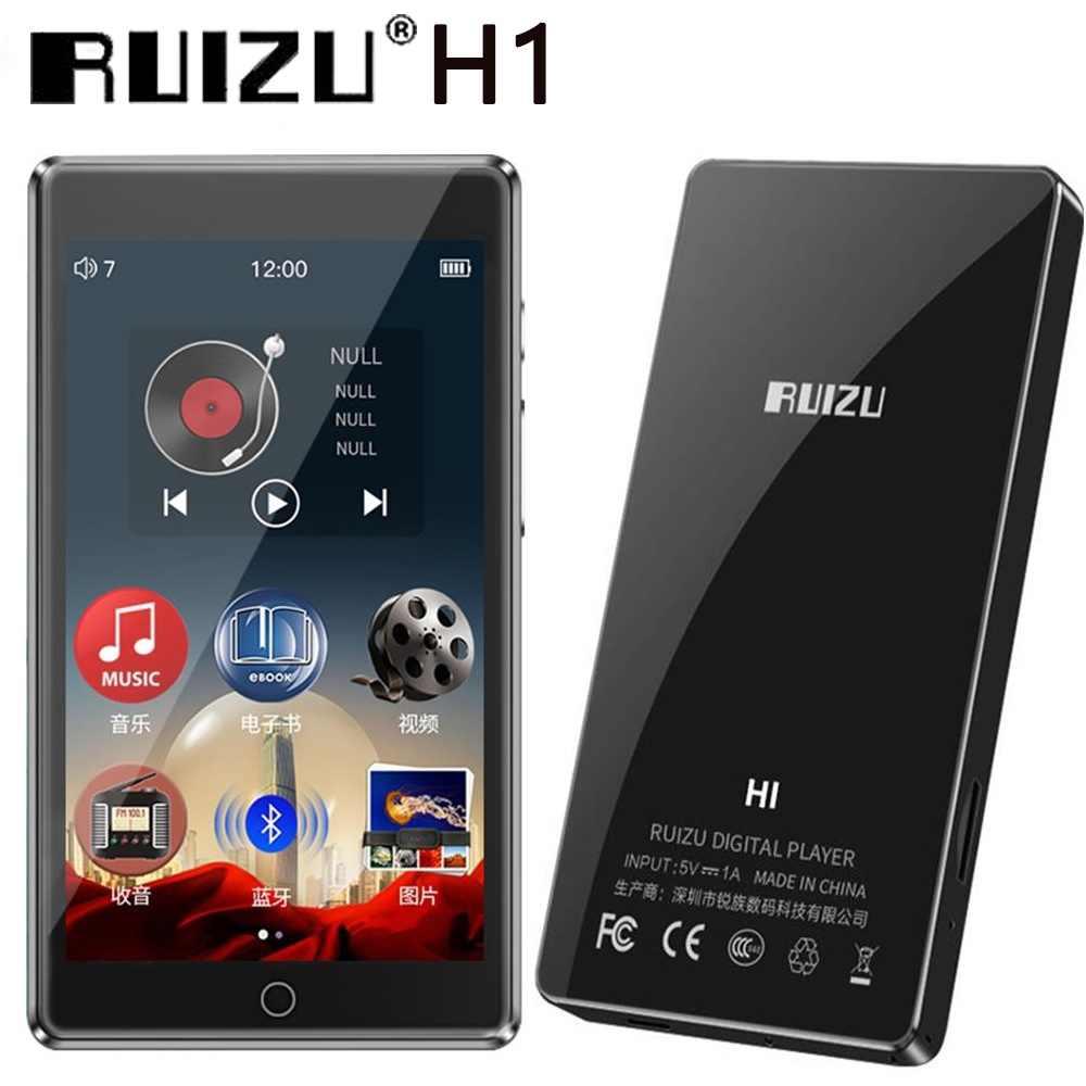 RUIZU H1 MP4 Player 4.0 cala w pełni dotykowy ekran z Bluetooth 5.0 Radio FM nagrywanie E-book odtwarzacz muzyczny wideo wbudowany głośnik