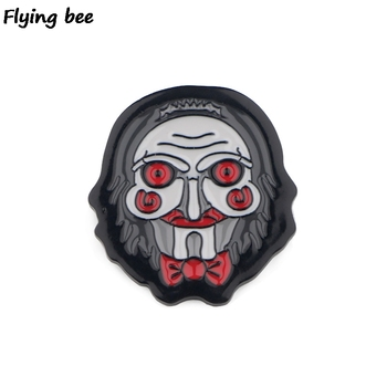 Flyingbee Billy кукла ужас булавка металлическая брошь и булавка женщины и мужчины эмалированные булавки значки значок на лацкан значок для одежд...