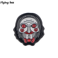 Flyingbee Billy The Puppet Horror Pin Metal Brooch and Women men Enamel Pins Badges Lapel pin Badge for Clothes X0509