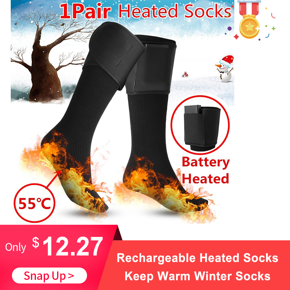 Winter Socks Warmers Rechargeable-Battery Electric-Feet Women 1-Pair