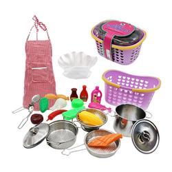 1 zestaw do gotowania z tworzywa sztucznego światła udawaj  że lekki zestaw do gry zestaw kuchenny gotowanie zabawki dla małych dzieci dla dzieci dla dzieci w Fartuchy od Dom i ogród na