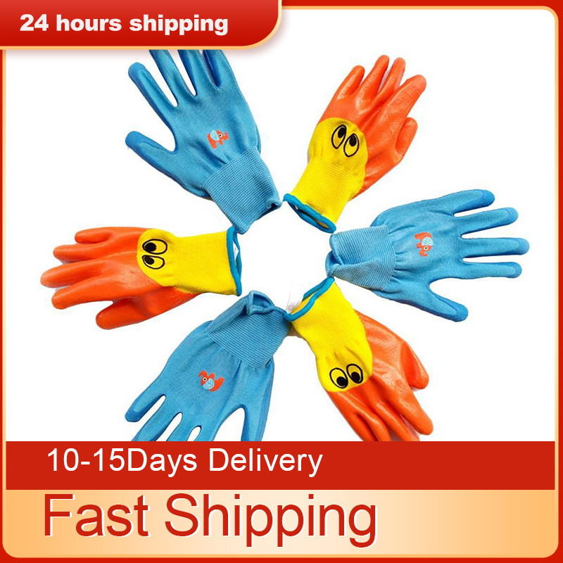 Shop For Cheap Waterproof Garden Gloves Work For Kids Children Protective Gloves Anti Bite Cut Protector Planting Work Gadget Accessories Agreeable To Taste