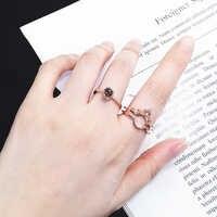 "Oro rosa 100 idiomas ""te amo"" anillos de memoria pareja de corona nuevo Anillo de compromiso conjunto 925 joyas de plata de ley para mujer"