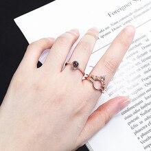 """Rosa de ouro 100 línguas """"eu te amo"""" memória coroa casal anéis novo conjunto anel de casamento noivado 925 prata esterlina jóias femininas"""