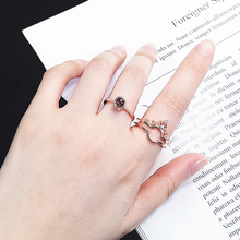"Rose Gold 100 Languages ""I Love You"" Memory Crown Couple Rings New Engagement Wedding Ring Set 925 Sterling Silver Women Jewelry"