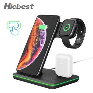 Image 1 - 15W 3 Trong 1 Sạc Không Dây Cho Iphone Dây AirPods Cảm Ứng Sạc 3in1 Cho iPhone X XR 8 plus Apple Dây 4 3 2 1