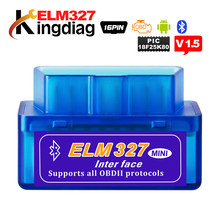 Elm327 super mini interface azul para android torque/pc verificar enjine livre navio rússia obd2 carro scanner de diagnóstico automático ferramentas