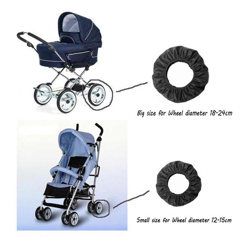 Acessórios de carrinho de criança dustproof anti-sujo tampas de roda para cadeira de rodas carrinho de bebê trono pushchair poussette