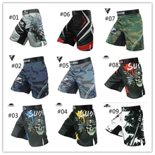 2021 New Mens Technical Mma Fight Shorts Black Mix Martial Arts Training Cage Ufc