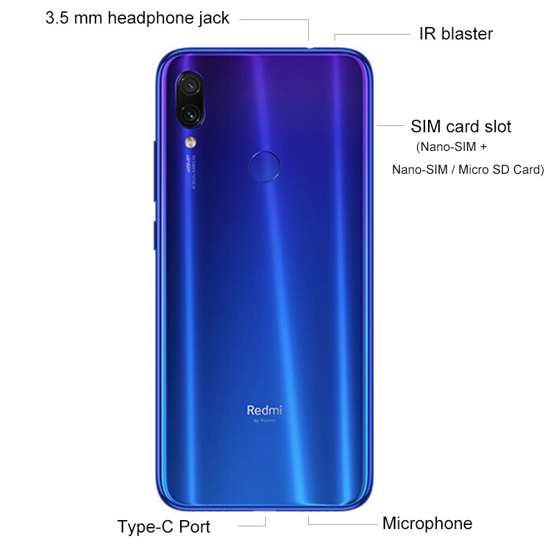 "Image 4 - Global Version xiaomi Redmi Note 7 3GB RAM 32GB ROM cellphone Snapdragon 660 Octa Core 6.3"" 19.5:9 Full Screen 48MP Dual Camera-in Cellphones from Cellphones & Telecommunications"