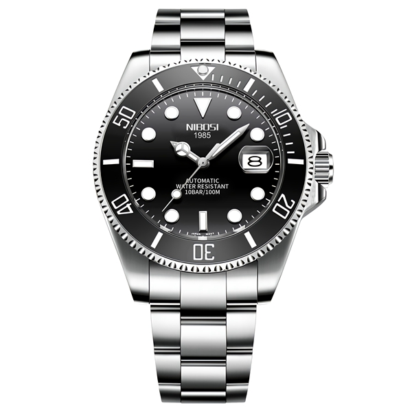 NIBOSI Mechanical Watch Men 10Bar Automatic Luxury Men Watch Sport Wristwatch Two-Tone Reloj Hombre Tourbillon Relogio Masculino 10
