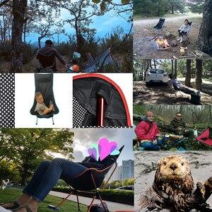 Image 5 - Портативное складное кресло Moon Chair, стул для рыбалки и кемпинга, складное дополнительное сиденье для пешего туризма, садовая Ультралегкая офисная мебель для дома
