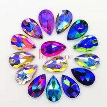 TopStone-diamantes de imitación para costura, piedras de cristal para coser Cristal, para vestidos, joyería