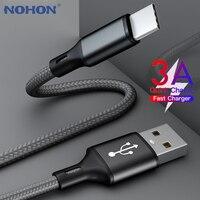 USB Typ C Kabel für Samsung A50 S10 S9 Quick Charge 3,0 USB C Kabel für Xiaomi Mi 9 Typ-C Schnelle Lade Lange kurzen Draht 2m 3m