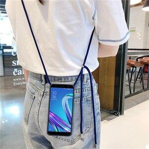 Силиконовый чехол из ТПУ Для Xiaomi Black Shark Mi Note 2 3 PocoPhone F1 F2 Pro 10 Lite Youth 9T с ожерельем и веревкой через плечо