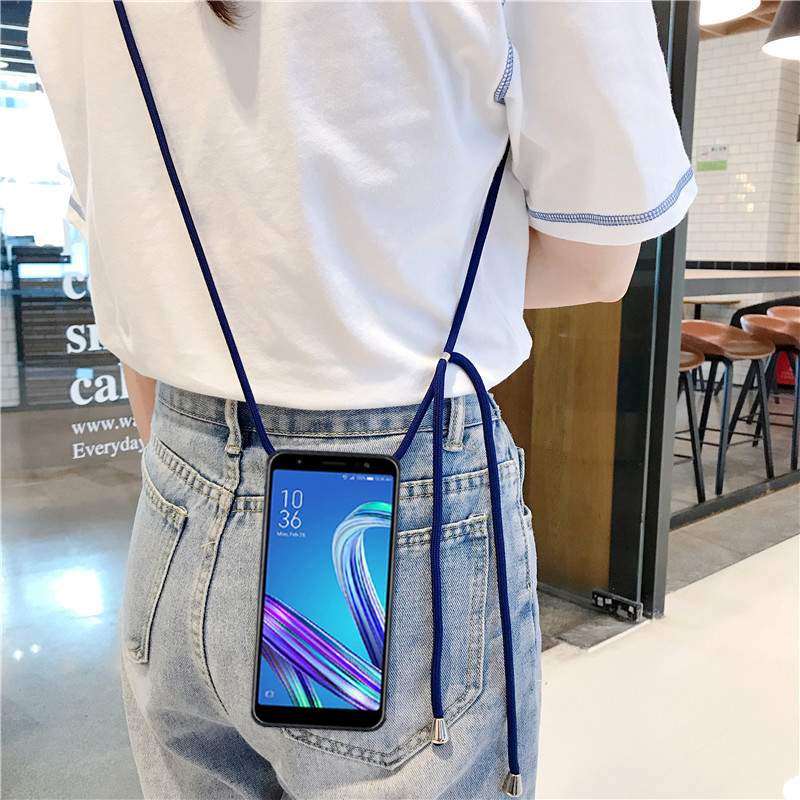 Crossbody Strap Lanyard Soft TPU Case for Samsung Galaxy J6 2018 J7 2017 Prime 2 Max Duo Star S8 S9 Plus Shockproof Case image