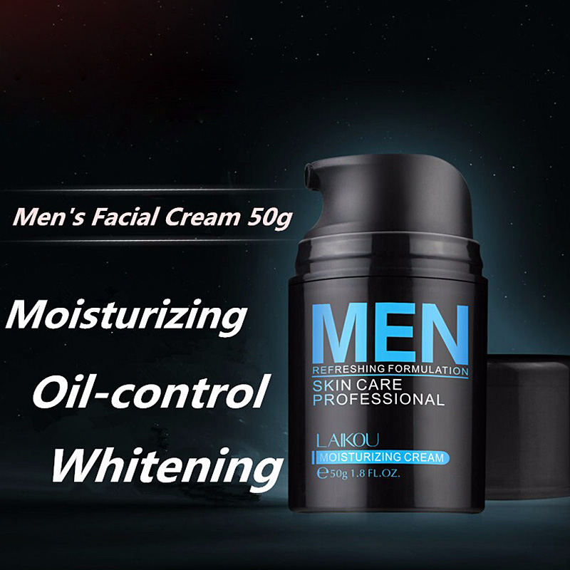 New Natural Men's Face Lotion Moisturzing Oil Balance Brighten Pores Minimizing 50g Men Facial Skin Care Cream SCI88