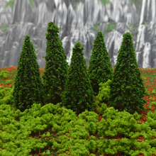 12cm model green wire trees toys scale miniature architecture tasson for tiny diorama mountain forest building scenery making