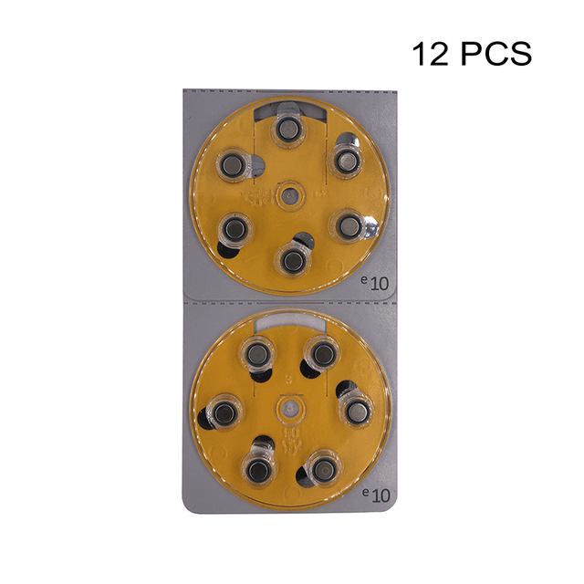 Hearing Aid Power Batteries PR70 1.4V Yellow Tab Zinc Air Button Cell Battery e10 Replaces A10 10 10A DA10 P10 S10 ZA10